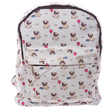 Simple Pug Dog Backpack Rucksack