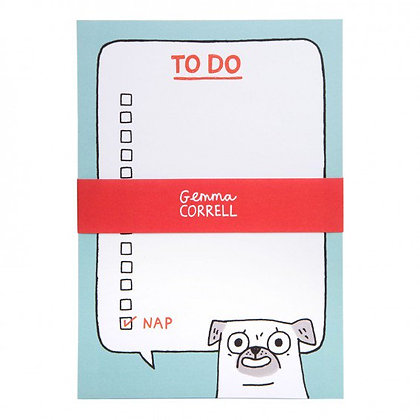 Pug To Do Notepad - Shopping List