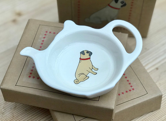 Pug Teabag Dish by Sweet William