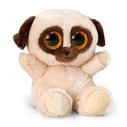 Soft Plush Toy Pug Teddy - Animotsu 15cm