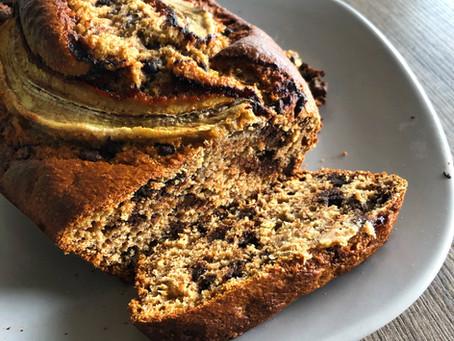 Banana bread léger aux pépites de chocolat