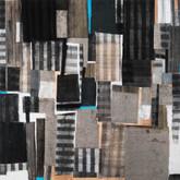 "Full Mixed media on wood panel 18"" x 18"" 2018"