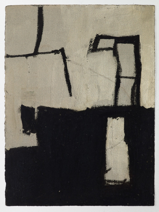 """City #1 Oil stick and gouache on paper 11"""" x 15"""" 2012"""