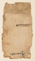 """Book Series #137 Old book pages, thread, pencil, and gouache on paper 11"""" x 15"""" 2002"""