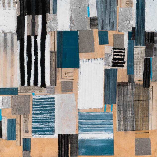 "Just Muddlin' Through Mixed media on wood panel 18"" x 18"" 2018"