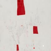 """Jona's Pajamas Mixed media on wood panel 16"""" x 24"""" 2007"""