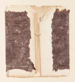 """Brown Study #2 Old book pages, thread, pencil, and gouache on paper 11"""" x 15"""" 2002"""
