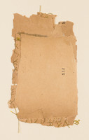 """Fin Old book pages, thread, pencil, and gouache on paper 11"""" x 15"""" 2002"""