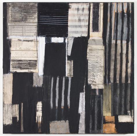"""Cherished Mixed media on wood panel 18"""" x 18"""" 2019"""