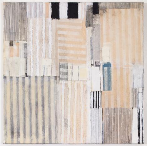 "Healing Mixed media on wood panel 18"" x 18"" 2019"