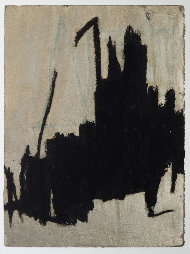 """City #3 Oil stick and gouache on paper 11"""" x 15"""" 2012"""