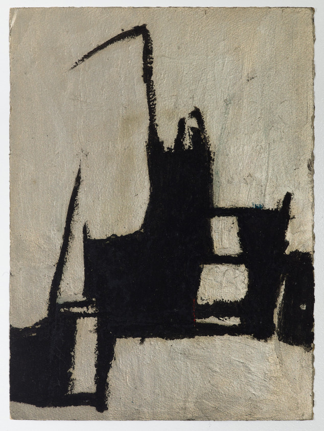 """City #2 Oil stick and gouache on paper 11"""" x 15"""" 2012"""