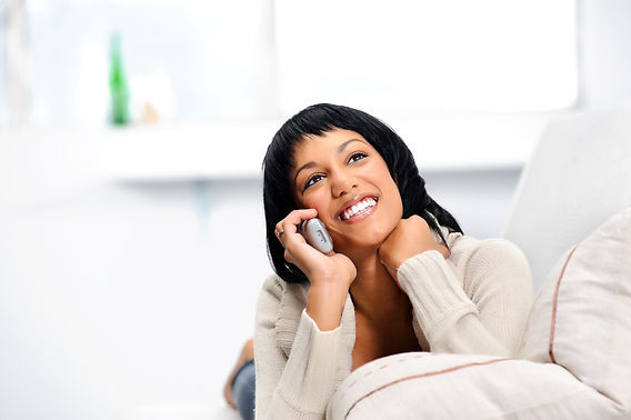 Woman using Xfinity Voice