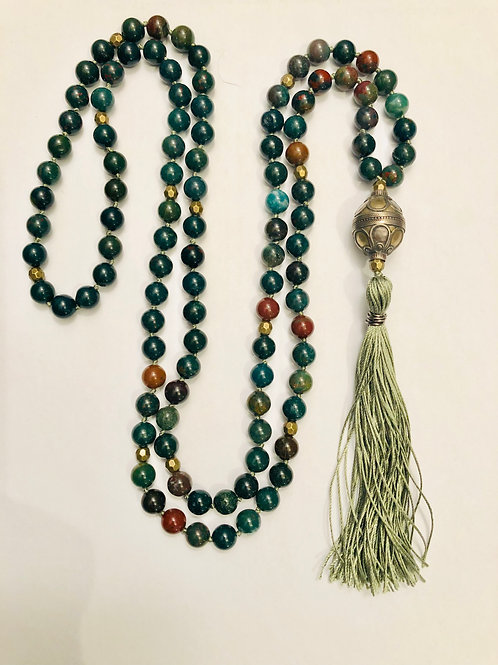 Bloodstone with Brass Accents