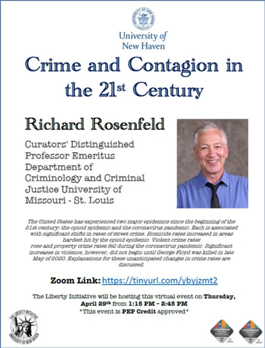 Richard Rosenfeld discusses the  two major epidemics of the 21st century and related, unanticipated changes in crime rates.