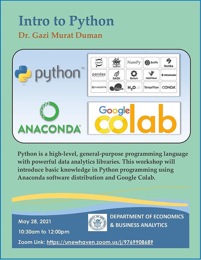 Intro to Python with Dr. Gazi Murat Duman