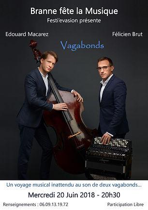 Concert Félicien Brut Edouard Macarez - Accordéon Contrebasse