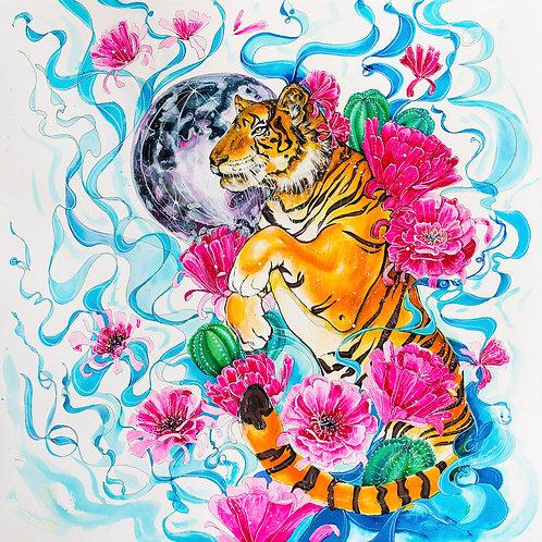 """12""""x12"""" Tiger Art Print"""