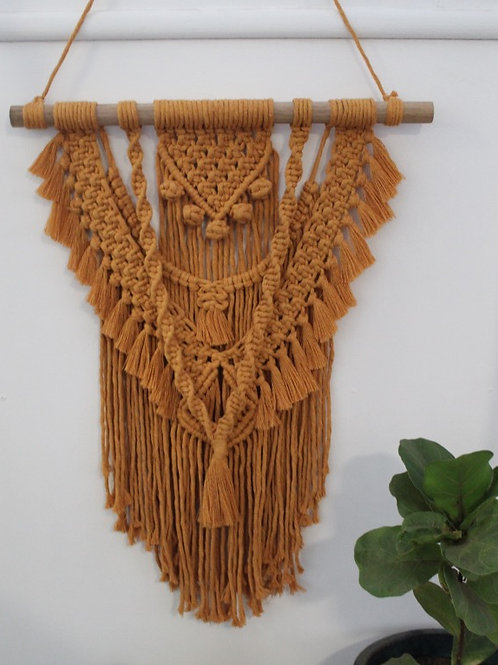 Felicity in Dusty Mustard - Macrame Wall Hanging