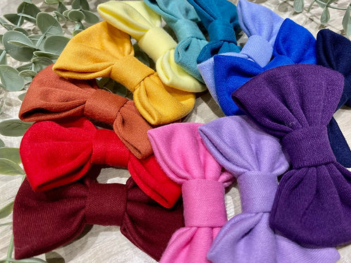 Classic Mini Bow Snap Clips Colours of the Rainbow