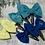 Thumbnail: Classic Mini Bow Snap Clips Colours of the Rainbow