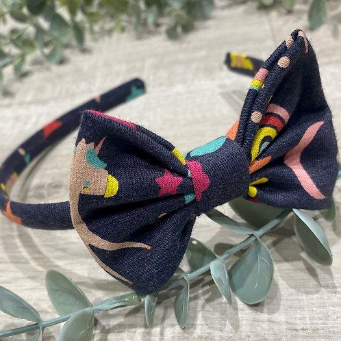 Classic Bow Headbands Rainbows and Unicorns
