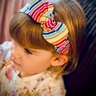 Rainbow Stripe Elasticated Headband