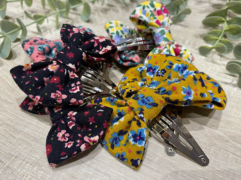 Classic Mini Bow Snap Clips Floral