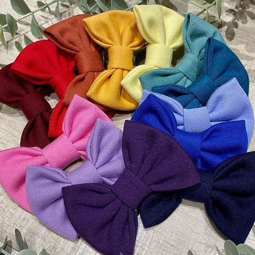 Classic Bows Prong Clips Colours of the Rainbow