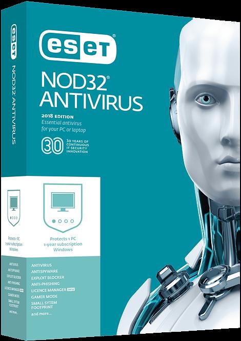 ESET NOD32 Antivirus 1 User 1 Years Protection