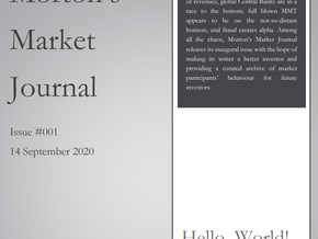 Morton's Market Journal Issue #001: The Speculative Mania Takes A Tumble
