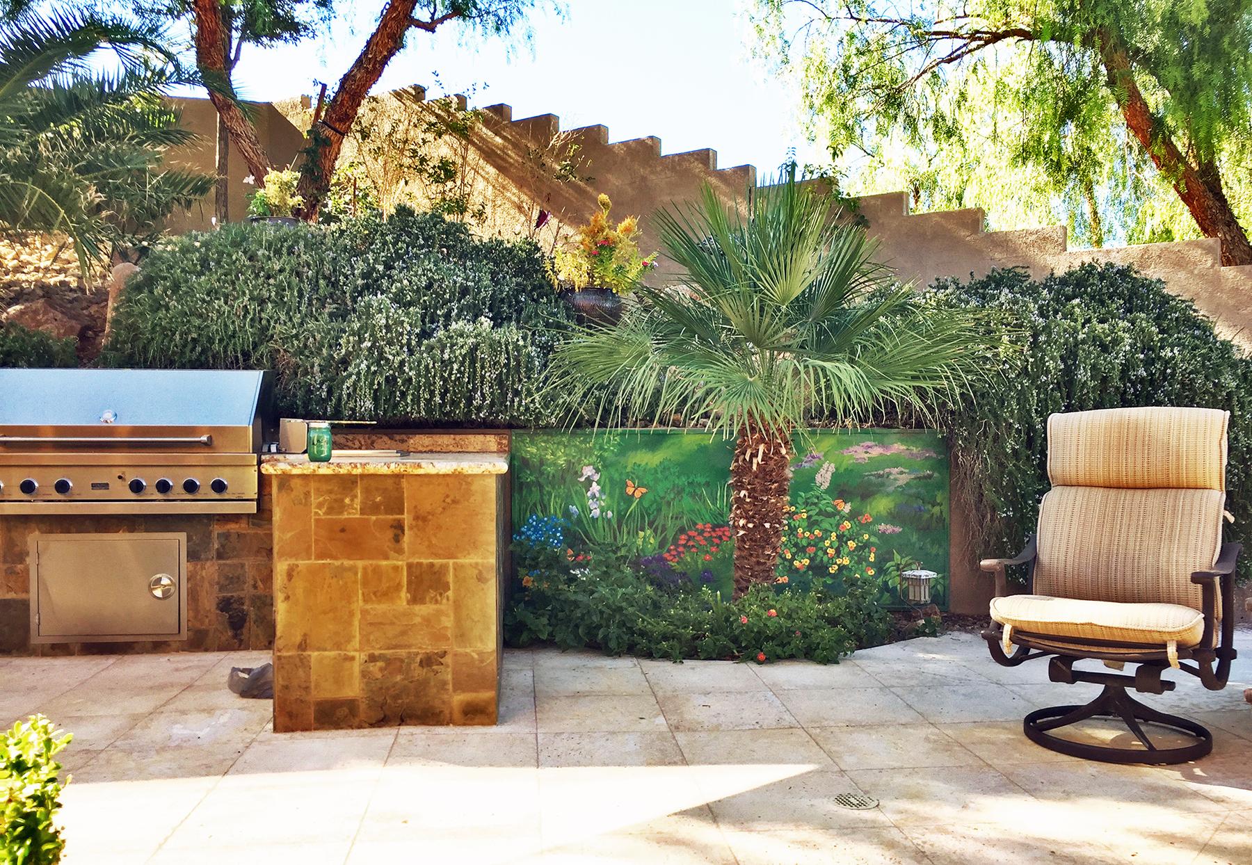 Backyard wall after