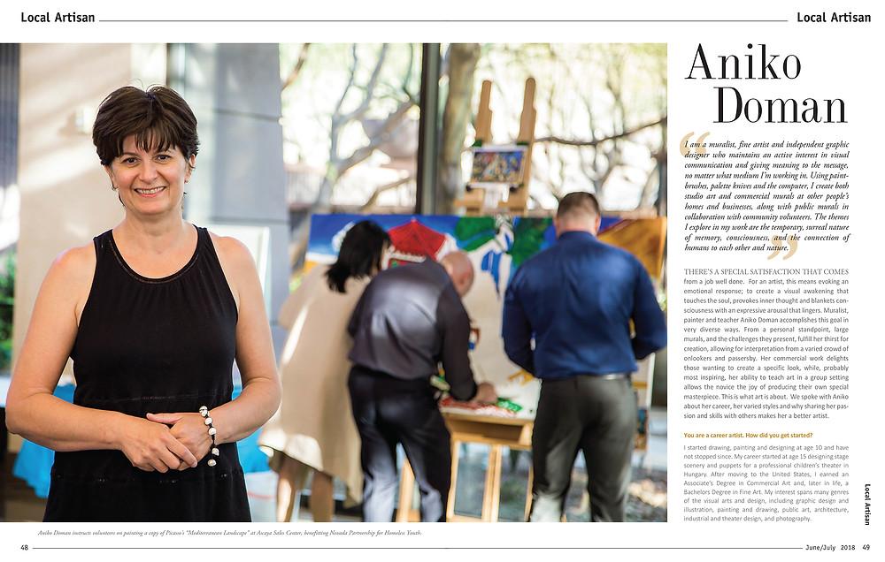 Zip Code Magazine article - Local Artisan Aniko Doman
