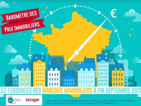BAROMÈTRE LPI-SELOGER octobre : les tendances des marchés immobiliers à fin septembre 2020