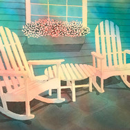"""SOLD """"2 Rocking Chairs II"""""""