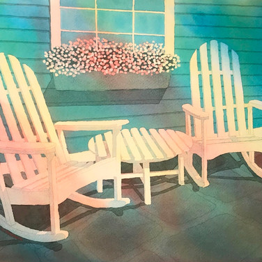 "SOLD ""2 Rocking Chairs II"""
