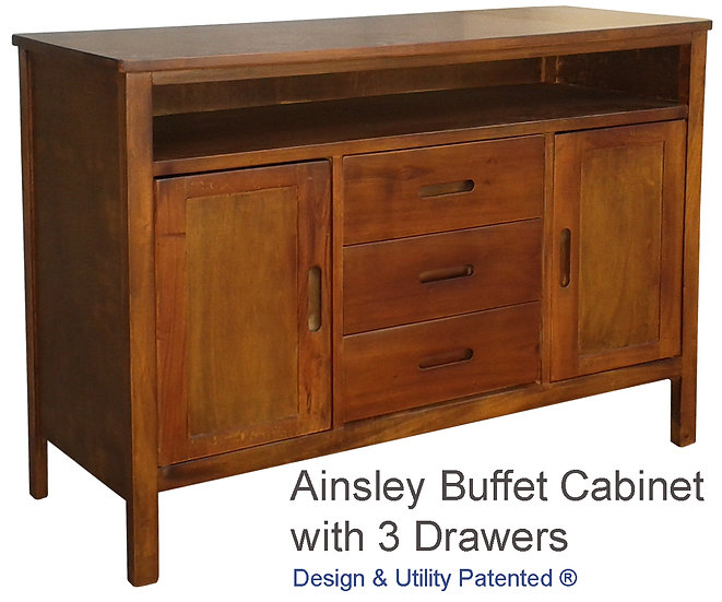 Ainsley Buffet Cabinet with 3 Drawers