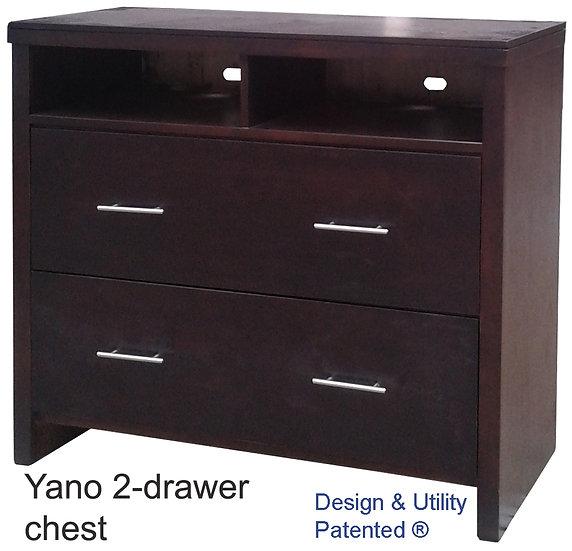 Yano Chest Drawer (2 Drawer/ 2 Shelves)