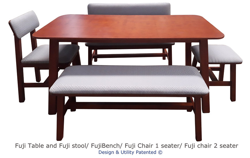 Phoenix 6 seater and 1 pc. Fuji Chair, 1 pc. Fuji Stool, 2 pc. Fuji Bench