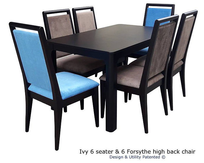 Ivy 6 seater and 6 Forsythe Highback Chairs