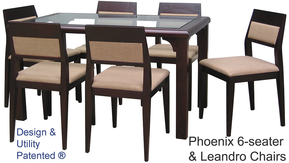 Phoenix Table and Leandro Chairs