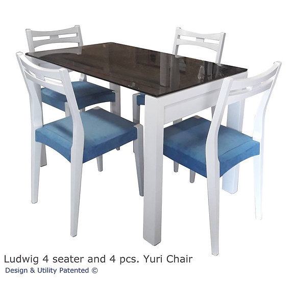 Ludwig 4 seater and 4 pcs. Yuri Chair