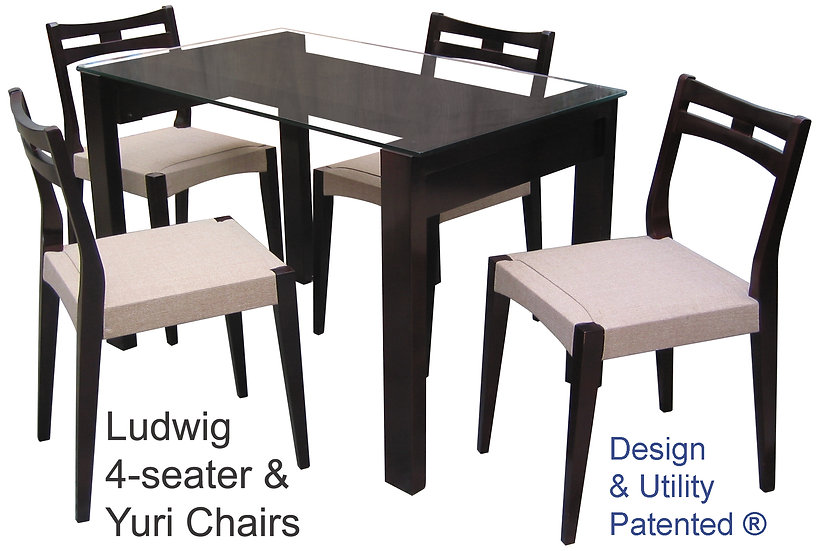 Ludwig Table and Ludwig Chair