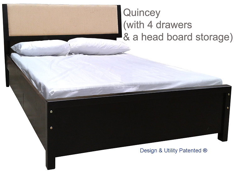 Quincey with Drawers and Headboard Storage
