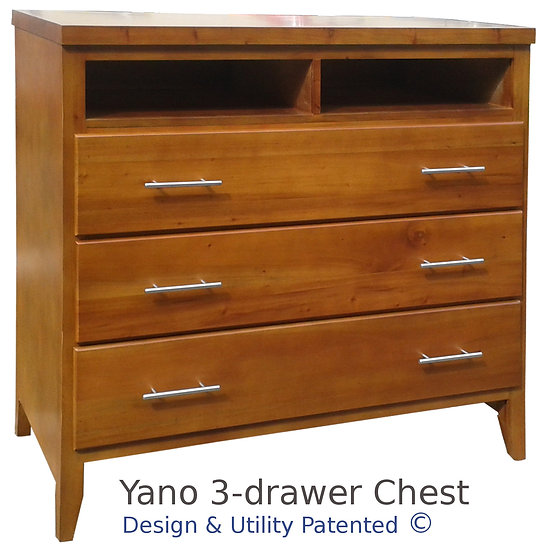 Yano Chest Drawer (3 Drawer/ 2 Shelves)