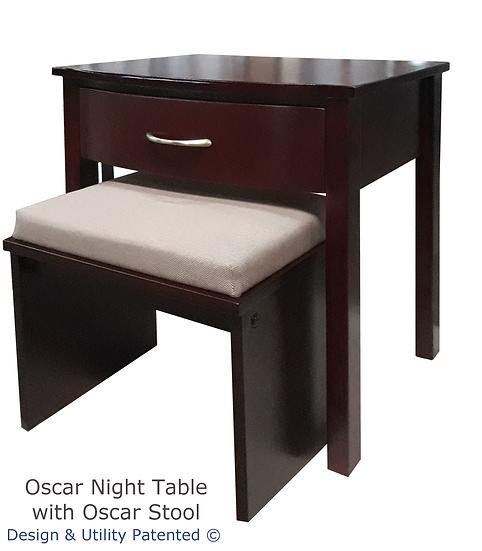 Oscar Night Table with Oscar Stool