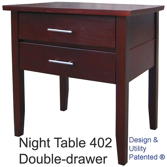 Night Table 402 Double Drawer