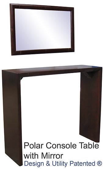 Polar Console Table with Mirror