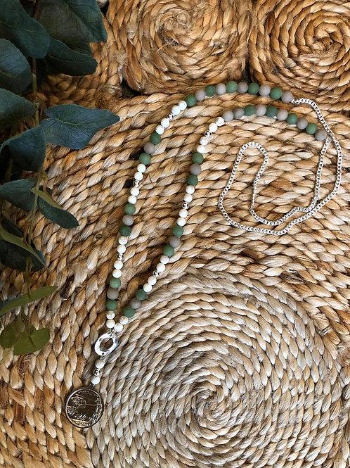 Coin Necklace Green