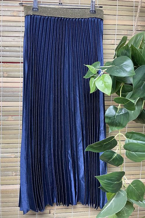 Pleat Skirt Royal Blue